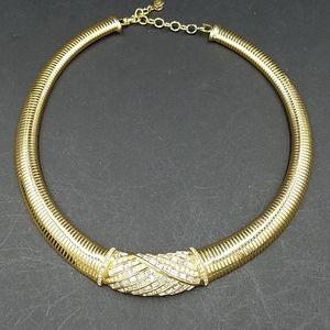 Vintage Chr. Dior Baguette Rhinestone Necklace